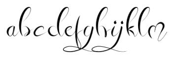 Honey Moon Midnight Calligraphy Font LOWERCASE