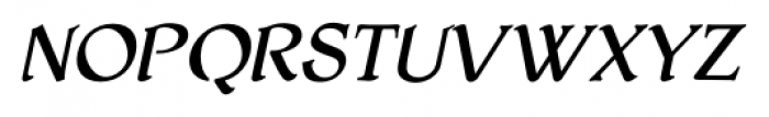 HoneyMead BB Italic Font UPPERCASE