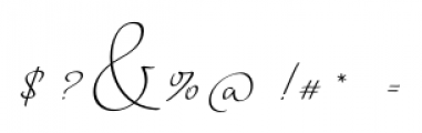 Horizontes Script Regular Font OTHER CHARS