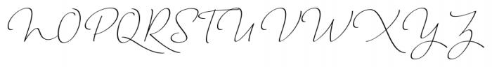 Horizontes Script Regular Font UPPERCASE