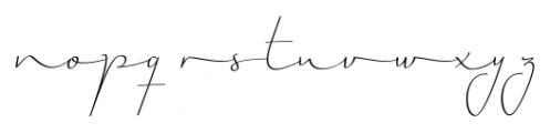 Horizontes Script Regular Font LOWERCASE