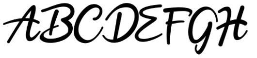 Hobenshaw Regular Font UPPERCASE
