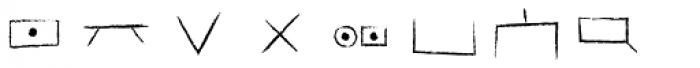 Hobo Symbols Chalk Font OTHER CHARS