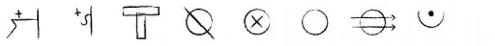 Hobo Symbols Chalk Font UPPERCASE