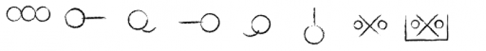 Hobo Symbols Chalk Font LOWERCASE