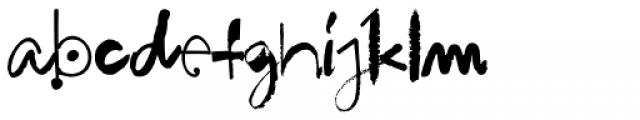 Hodgepodge Handlettered Font LOWERCASE