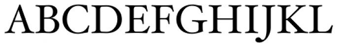 Hoefler Text Font UPPERCASE