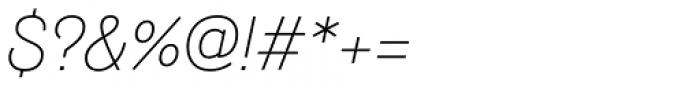 Hogar Light Italic Font OTHER CHARS