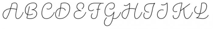 Hogar Script Extra Light Font UPPERCASE