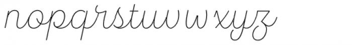 Hogar Script Extra Light Font LOWERCASE