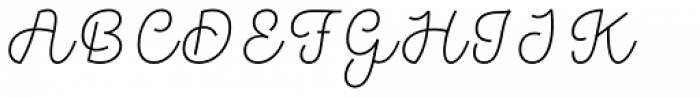 Hogar Script Light Font UPPERCASE