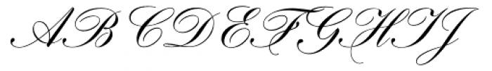 Hogarth Script EF Regular Font UPPERCASE