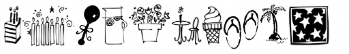 Holiday Doodles Too Font LOWERCASE