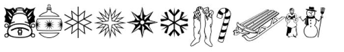 Holiday Pi Font LOWERCASE