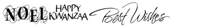 Holiday ROB Font UPPERCASE