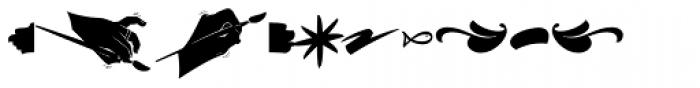 Hollie Script Pro Ornaments Font LOWERCASE