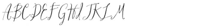 Hollyhock Font UPPERCASE