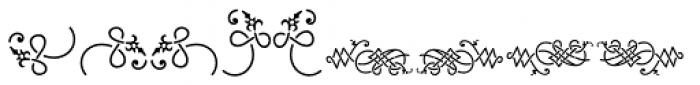 Holy Church Fleurons Font UPPERCASE
