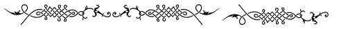 Holy Church Fleurons Font LOWERCASE