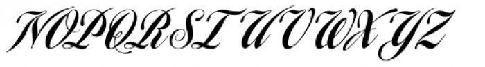 Homage Script Font UPPERCASE