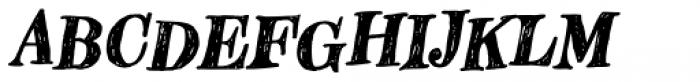 Hombre Bold Italic Font UPPERCASE