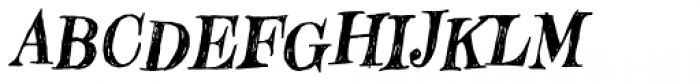 Hombre Italic Font UPPERCASE