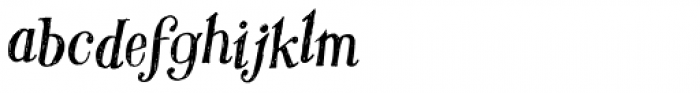 Hombre Italic Font LOWERCASE