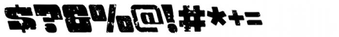 Hondo Grunge Backslant Font OTHER CHARS