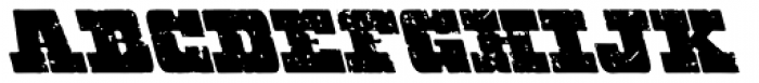 Hondo Grunge Backslant Font UPPERCASE