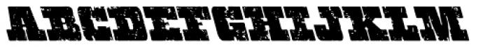 Hondo Grunge Backslant Font LOWERCASE