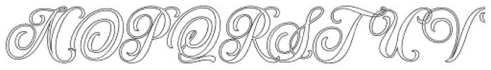 Hondurhas Outline Shadow Font UPPERCASE