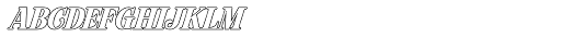 Hondurhas Outline Shadow Font LOWERCASE
