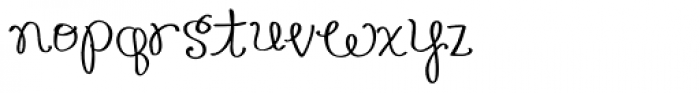 Honey Bee Font LOWERCASE