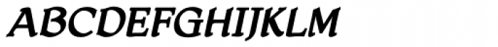 HoneyMead BB Bold Italic Font UPPERCASE