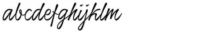 Honeymoon Upright Font LOWERCASE