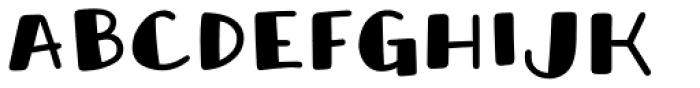 Honolulu Sans Filled Jumpy Font LOWERCASE
