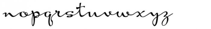 Hoof Brush Rose Font LOWERCASE