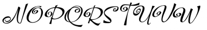 Hoof Brush Spiral Oblique Font UPPERCASE