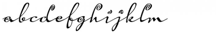 Hoof Brush Spiral Oblique Font LOWERCASE