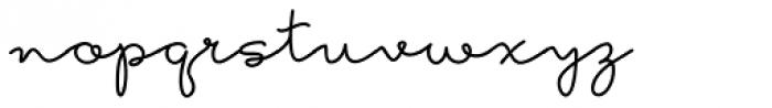 Hoof Line Med Font LOWERCASE