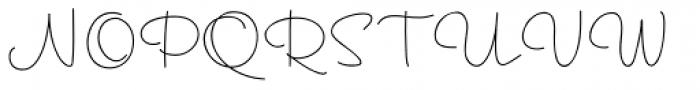 Hoof Line Thin Font UPPERCASE