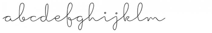 Hoof Line Thin Font LOWERCASE