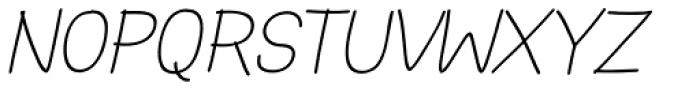 Hoof Sans Med SC Oblique Font UPPERCASE