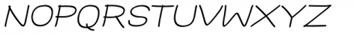 Hoof Sans Med SC Oblique Font LOWERCASE