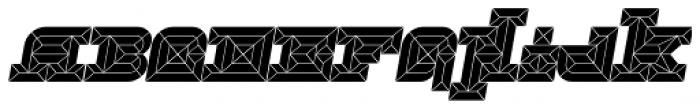 Hopeless Diamond A Italic Alt Font UPPERCASE