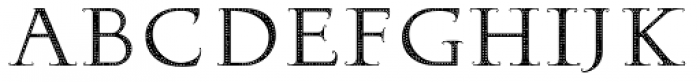Hopferian Dots Font UPPERCASE