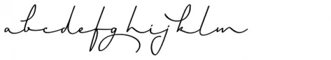 Horizontes Script Bold Font LOWERCASE