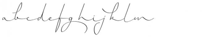 Horizontes Script Font LOWERCASE