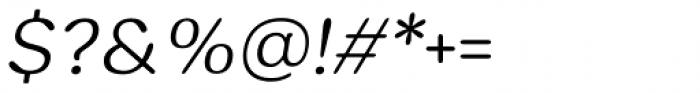 Hornbill Light Italic Font OTHER CHARS