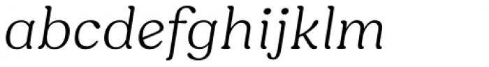 Hornbill Light Italic Font LOWERCASE